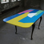 <p><strong>Coating: 7 colour lacquered, sealing with clear coat semi-matt<br /> </strong>Alessandro Mendini, table, 2011<strong><br /> </strong></p>