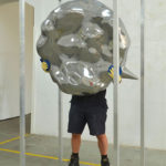 <p><strong>Coating: Solidified surface, PS real metal coating aluminium, high gloss polished<br /> </strong>Jürgen Drescher,Sprechblase/Speech bubble, 2011/2013<br /> mix media, 105 x 105 x 37 cm, with Bianca Lamelas and Peter Stücker, Photo by: Gerald Imhof</p>