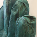 <p><strong>Coating: PS real metal copper, green patinated, sealed<br /> </strong>Eckart Hahn, 2016, aluminium cast, coppered / patinated, 185 x 60 x 110 cm</p>