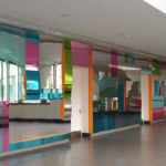 <p><strong>Coating:</strong> <strong>Coloured glazes on mirror, sealed with clear coat, high gloss polished<br /> </strong>Tobias Rehberger, 2011, mirrored wall, Kastanienhofschule Berlin, ca. 16 m x 3 m x 25 cm</p>