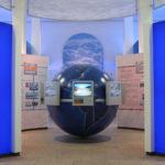 <p><strong>AWard Associates, globe, exhibition design, multicolouredlacquered </strong></p>
