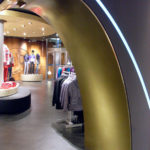 <p><strong>Jonas store construction, Esprit Shop, Archway from MDF, PS real metal coating brass, polished</strong></p>