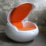 <p><strong>Egg Chair, soft-touch coating</strong></p>