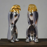 <p><strong>Luigi Colani, Chrom-Optik-Beschichtung Silber/ Gold</strong></p>