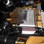 <p><strong>Motorabdeckung, ABS, Chrom-Optik-Beschichtung , gold lasiert</strong></p>