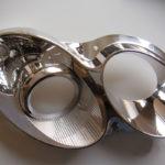 <p><strong>Scheinwerfermodell, in Chrom-Optik beschichtet</strong></p>
