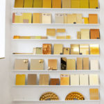 <p><strong>Samples wall, several shades of gold<br /> </strong></p>