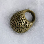 <p><strong>Ring, 3D print, PS real metal coating brass, polished</strong></p>