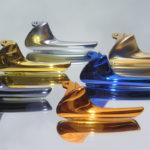 <p><strong>Griffe, ABS, Chrom-Optik-Beschichtung, farbig lasiert</strong></p>
