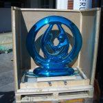 <p><strong>Coating: Chrome optics blue<br /> </strong>Anselm Reyle, Harmony, 2006, bronze</p>