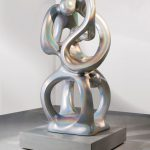 <p><strong>Coating: Special lacqering prism on silver<br /> </strong>Anselm Reyle, Eternity, 2008, bronze</p>