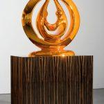 <p><strong>Coating: Chrome optics orange<br /> </strong>Anselm Reyle, Harmony, 2007, bronze</p>