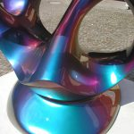 <p><strong>Coating: Special lacquering prism green<br /> </strong>Anselm Reyle, Life Enigma, 2007, bronze</p>