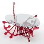 <p><strong>Proko Süd, table frame, stainless steel, mirror polished, colour glazed<br /> </strong></p>
