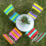 <p><strong>Garden table set, multi-colored design laquering, matt finish with boat varnish, scratch-resistant<br /> </strong></p>